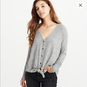 Abercrombie & Fitch Tops - A&F Tie Front Button Up